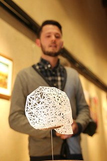 Norman Von Schmeling with 3D Paper Skull