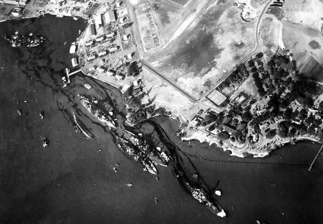 Pearl Harbor Aerial Photo World War II