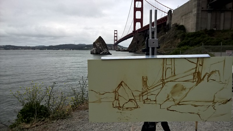 Drawing from Golden Gate during Richard Robinson's Workshop