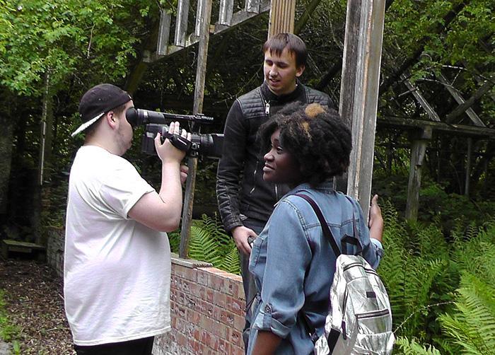 Filming at Dean Valley Studios 3