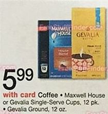 graphic relating to Gevalia Printable Coupons titled $1/1 Gevalia Espresso Material Printable Coupon ($4.99 at