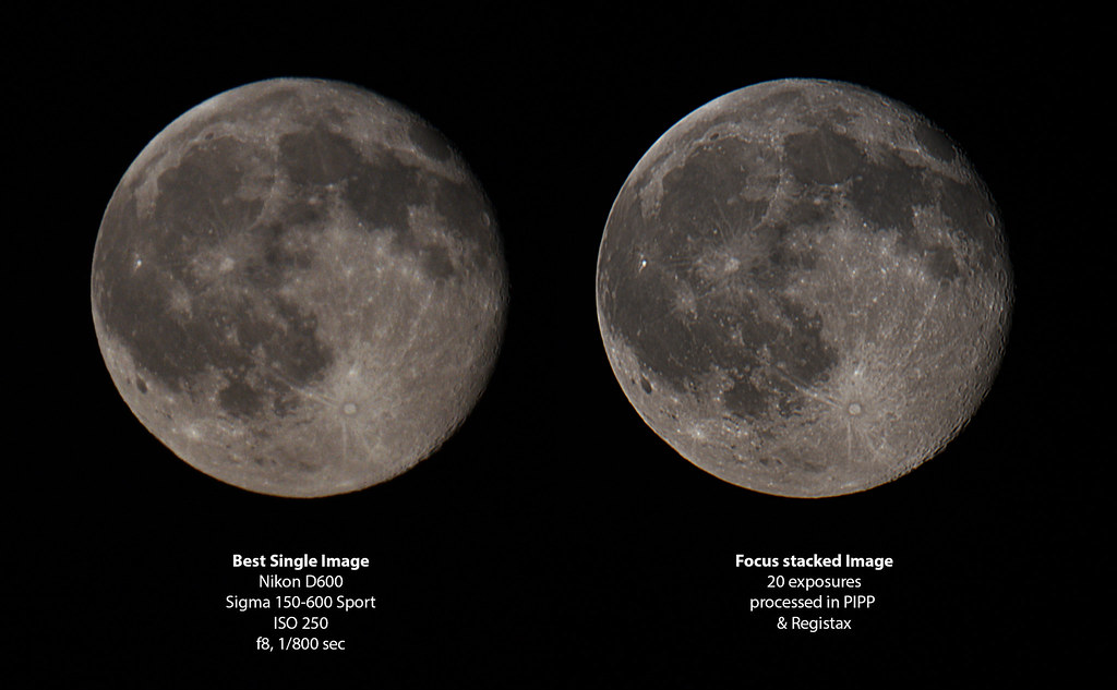 Moon Stacking Comparison With Pipp And Registax I Ve