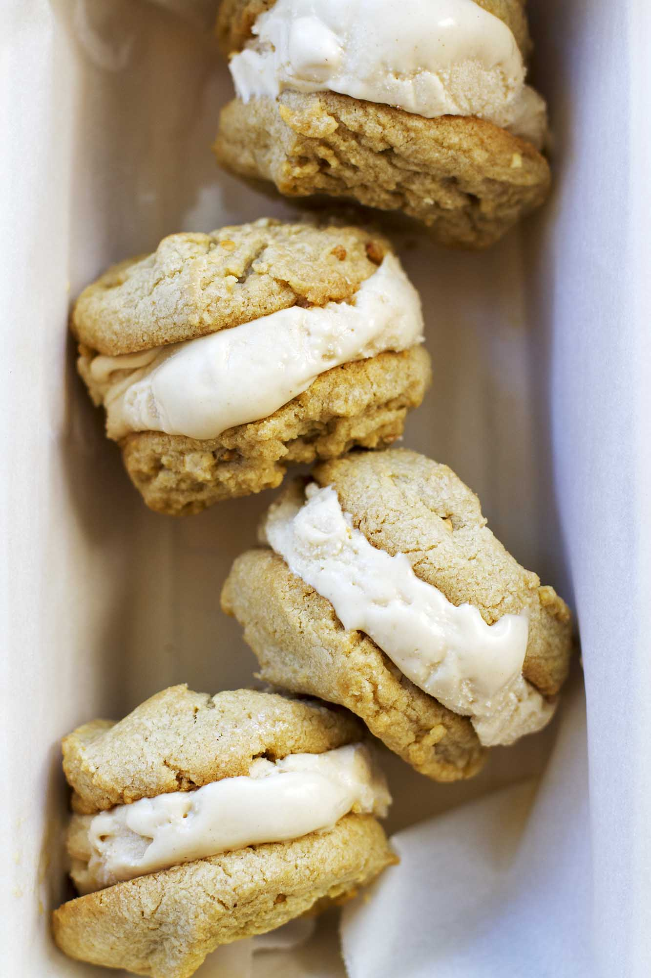 Toasted Marshmallow Peanut Butter Ice Cream Sandwiches | girlversusdough.com @girlversusdough