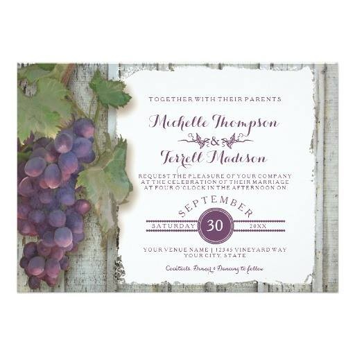 Wine winery vineyard grape theme fall wedding card arti flickr wine winery vineyard grape theme fall wedding card artist audreyjeanne stopboris Images