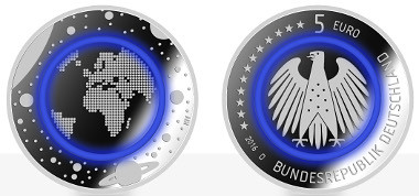 German commemorative Planet Earth coin