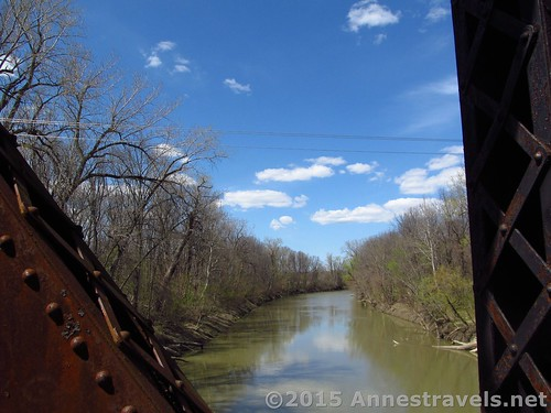 The Genesee River from the trestle that crosses the river on the Lehigh Valley Trail, New York