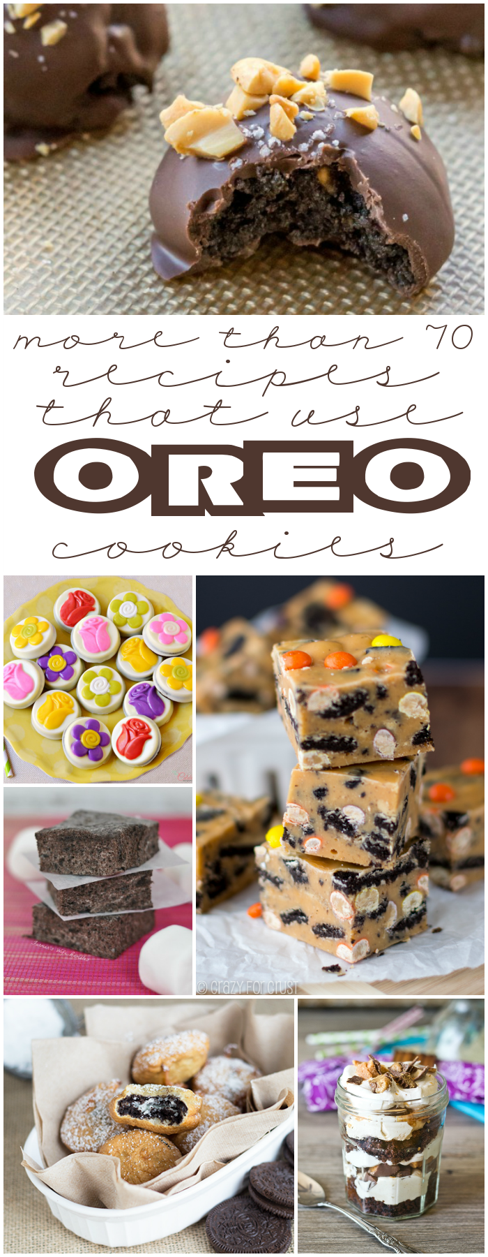 More than 70 recipes that use Oreo cookies!