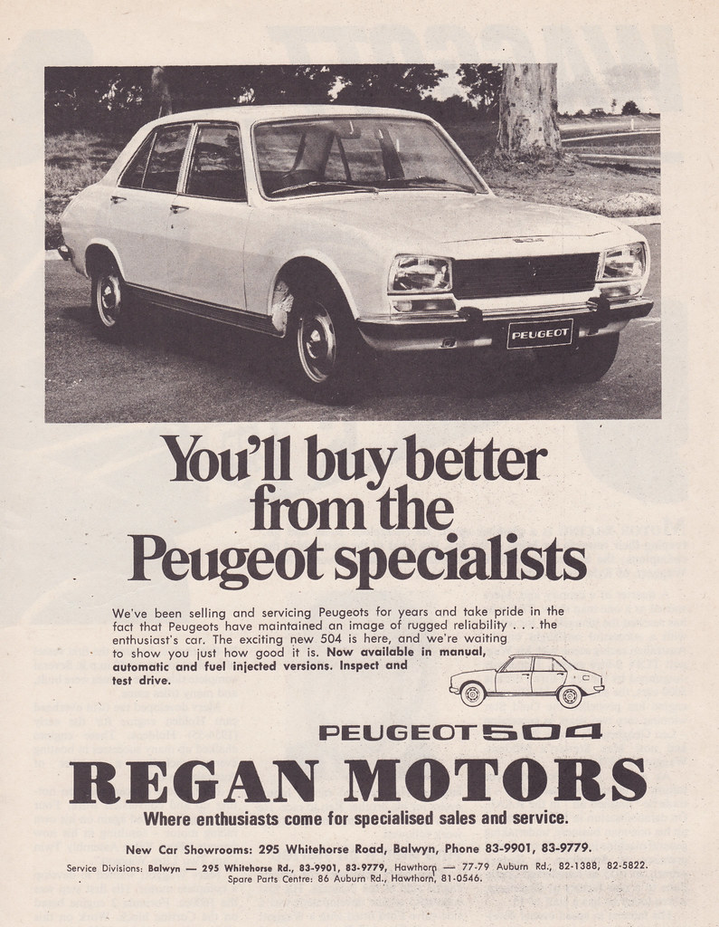 1972 Peugeot 504 Ad Australia Covers The 1972 Peugeot 50 Flickr