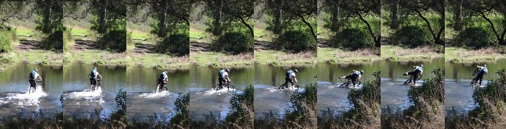 Riding Across a Creek