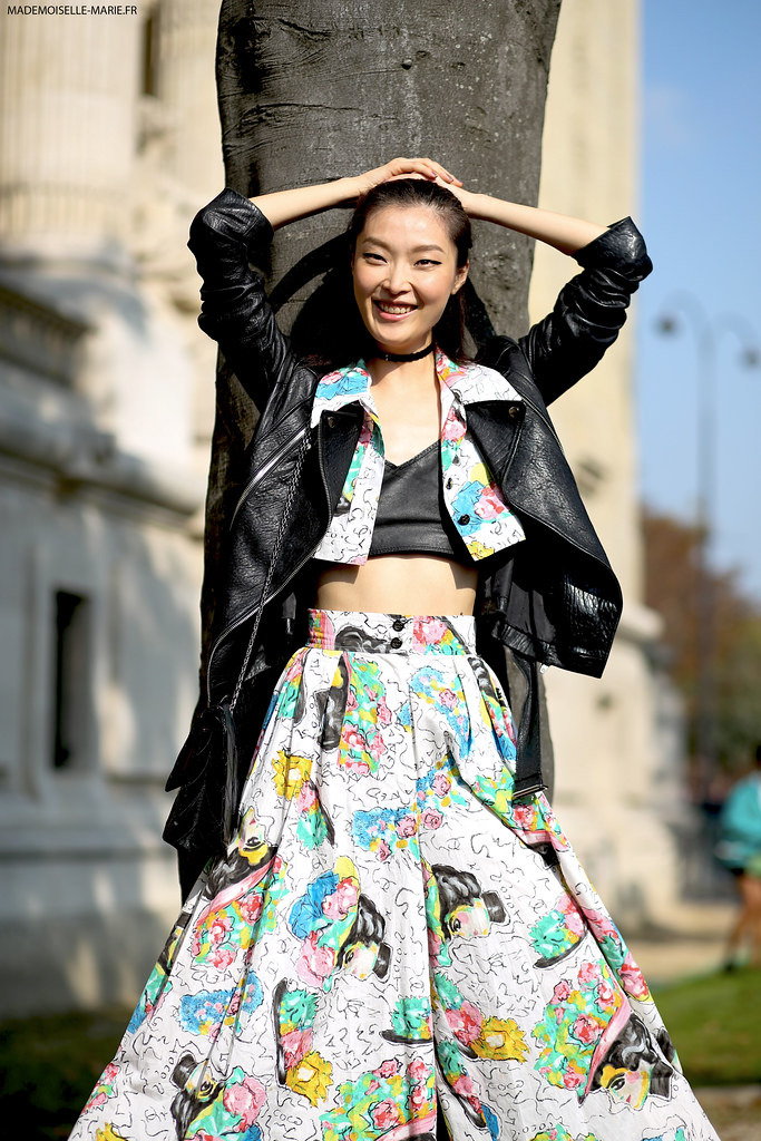 Model Sunghee Kim at Paris fashion week-3