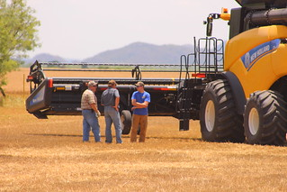 Meeting of the minds - Dad, Farmer Mike and Brandon