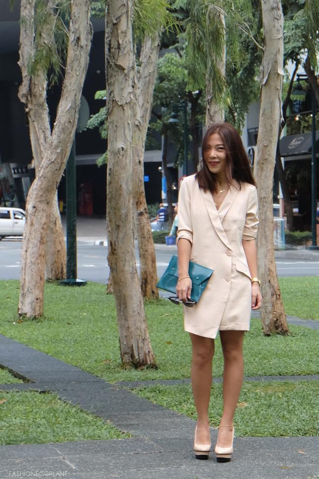 TUX DRESS STREET STYLE