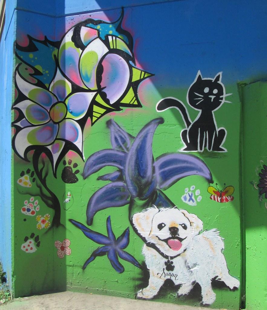 New Mural At Dog Park Park No  BucktownLogan Squar Flickr - Map of chicago dog parks
