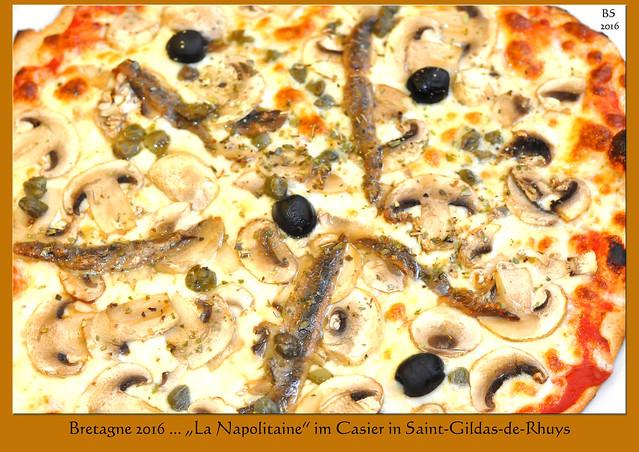 """Restaurant / Pizzeria CASIER in Saint-Gildas-de-Rhuys ... für uns immer eine gute Adresse. Die knusprigen Pizze aus dem Holzofen sind unschlagbar und auch alles andere sehr lecker. Hier: """"La Napolitaine"""" sowie ein """"Sauté de crevettes aux 5 parfums"""". Rotwein, Espresso und ein Amaretto aufs Haus. Fotos und Collagen: Brigitte Stolle 2016 für uns immer eine gute Adresse. Die knuprigen Pizze aus dem Holzofen sind unschlagbar und auch alles andere sehr lecker. Hier: """"La Napolitaine"""" sowie ein """"Sauté de crevettes aux 5 parfums"""". Rotwein, Espresso und ein Amaretto aufs Haus. Fotos und Collagen: Brigitte Stolle 2016"""