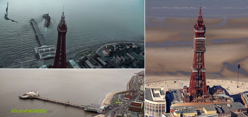 Blackpool Tower and pier with CGI effects