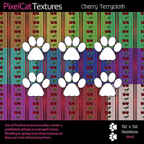 PixelCat Textures - Cherry Terrycloth