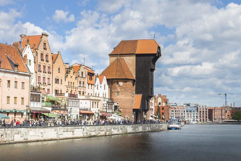 Długie Pobrzeże i Brama Żuraw - Gdańsk
