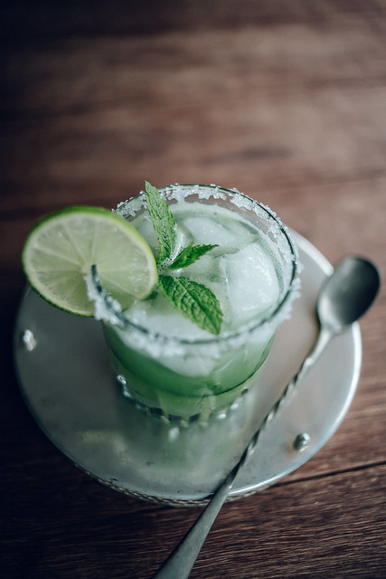Cucumber, Mint & Lime Margarita Cocktails