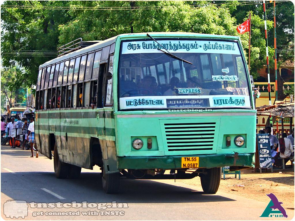 TN-55N-0587 of Pattukottai Depot 435D Pattukottai - Paramakudi via Aranthangi, Karaikudi, Kallal, Kalayarkoil, Ilayangudi.