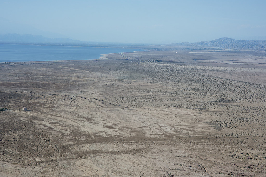 Aerial view of the San Andreas Fault, Durmid Hill, Imperial County, California