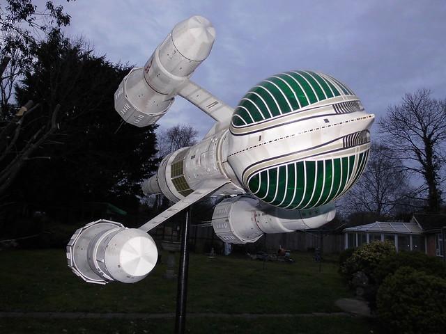 Blake's-7 Liberator original BBC studio prop.