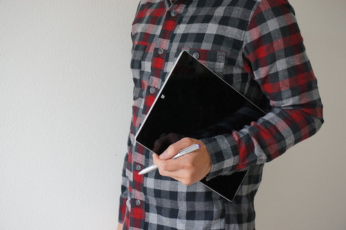 Holding a Surface Pro 3 with Stylus | by IntelFreePress