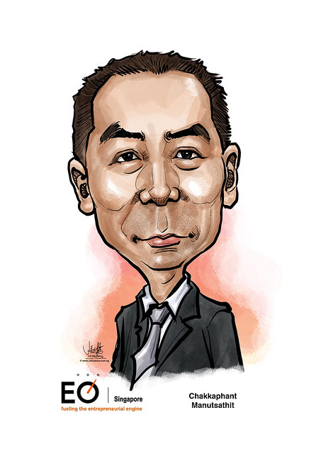 digital caricature for EO Singapore - Chakkaphant Manutsathit