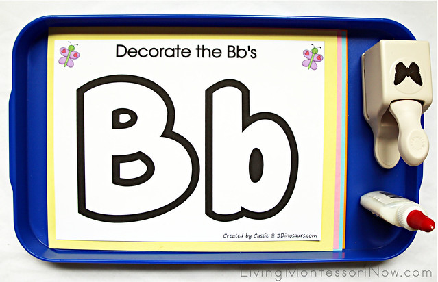 Decorate the Bb's Butterfly Craft