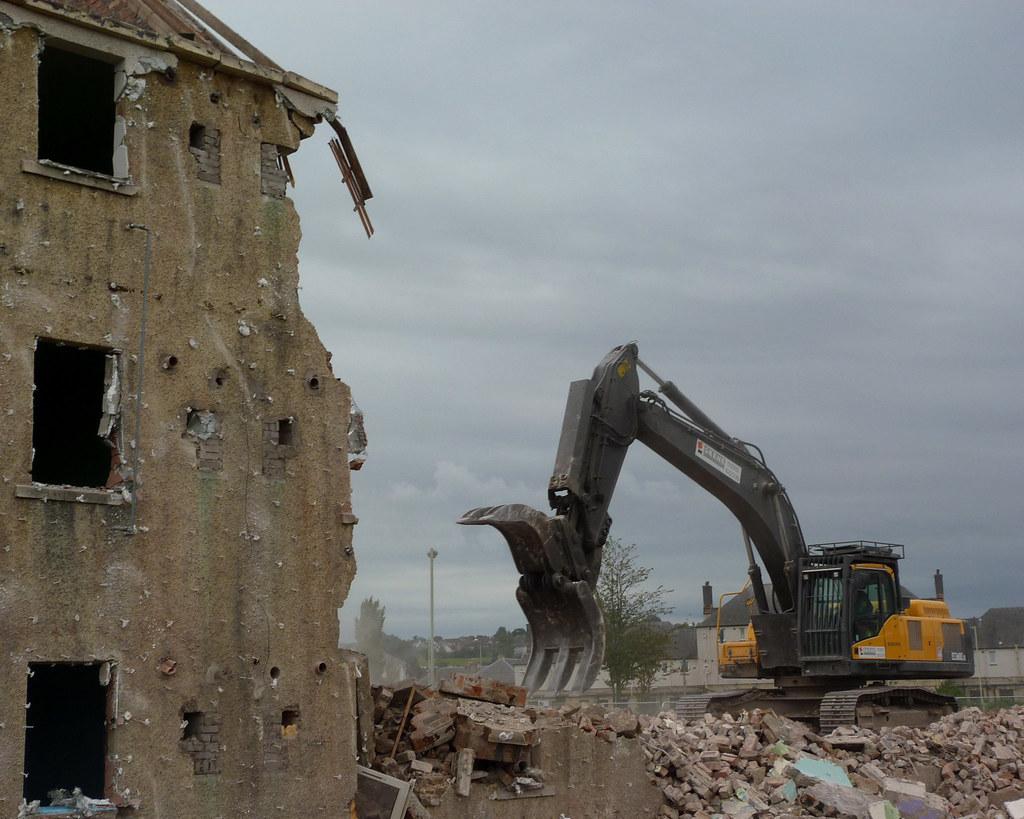 Demolition Of Ainslie Place 2011