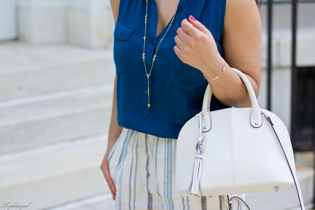 striped linen skirt, blue tank, white bag-16.jpg