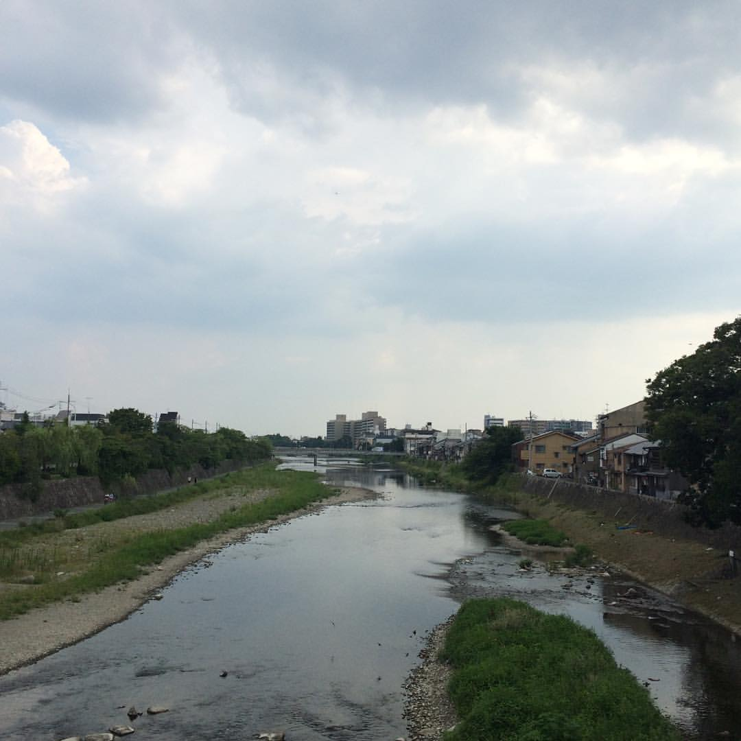 ゲリラ雷雨は来なかった #今日の鴨川 #kyokamo #sky #イマソラ