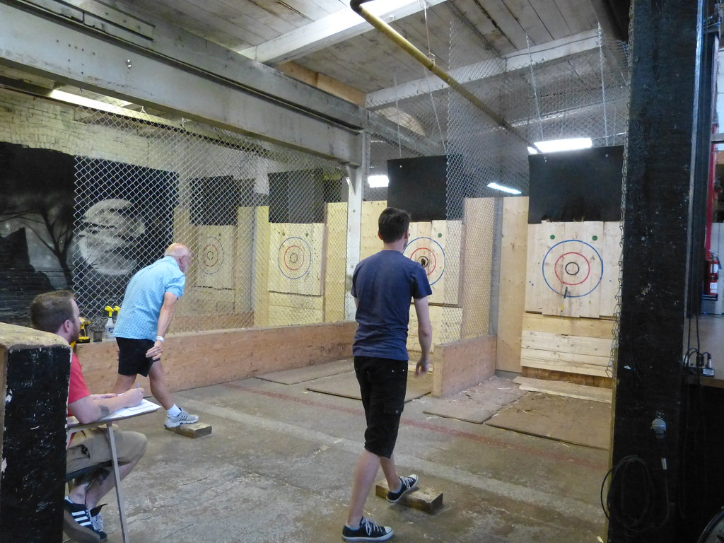 competitive dad axe throwing at batl toronto i beat my so u2026 flickr