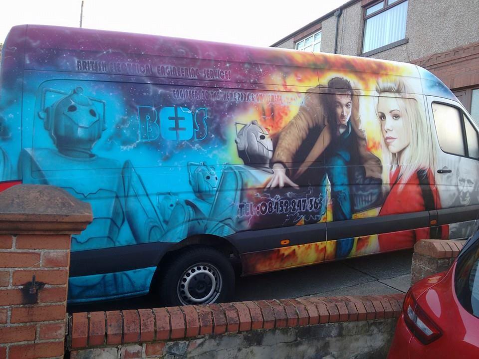 Doctor Who Van David Tennant Cyberman Rose Tyler Billie Piper