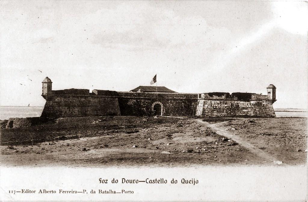 Forte de São Francisco Xavier, popularmente conhecido como castelo do Queijo, em Nevogilde - 1900