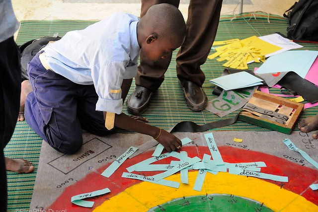 Children playing at annual Math Festival. Photo Credit: ImagiNation Afrika