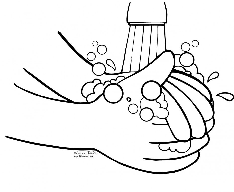 wash your hands coloring page - hand washing coloring pages via free coloring pages ift