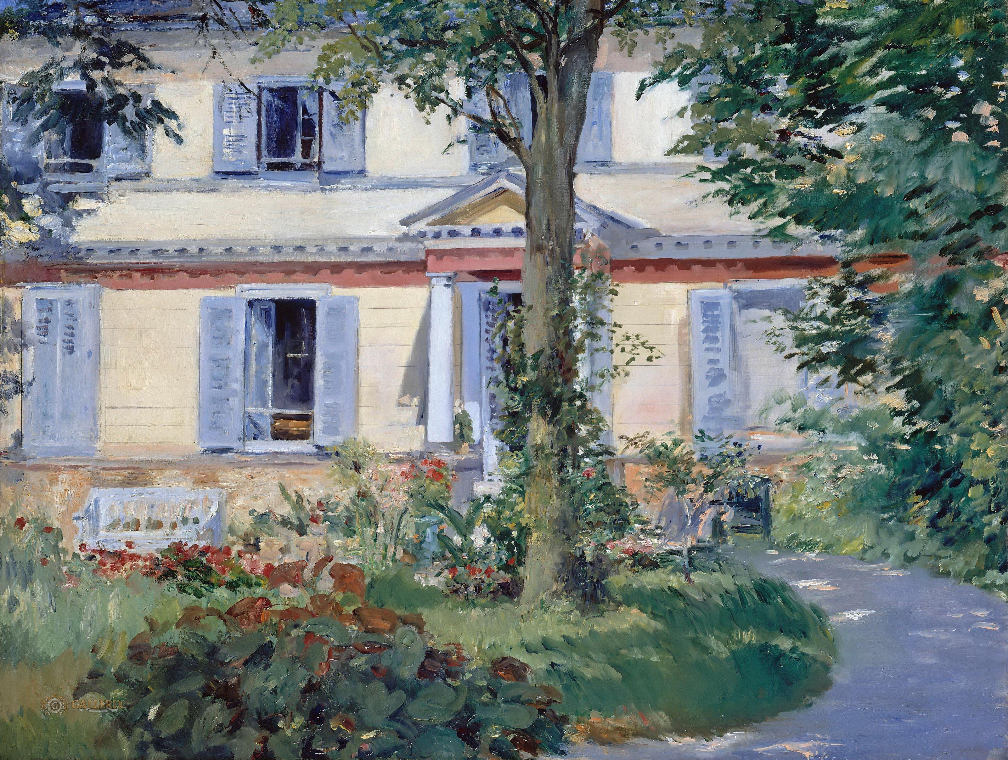 Картинки по запросу édouard manet the house at rueil