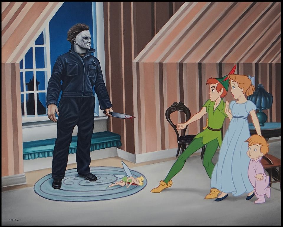 Disenchanted Disney by Rodolfo Loaiza Ontiveros - Horrorland - Peter Pan vs Michael Myers