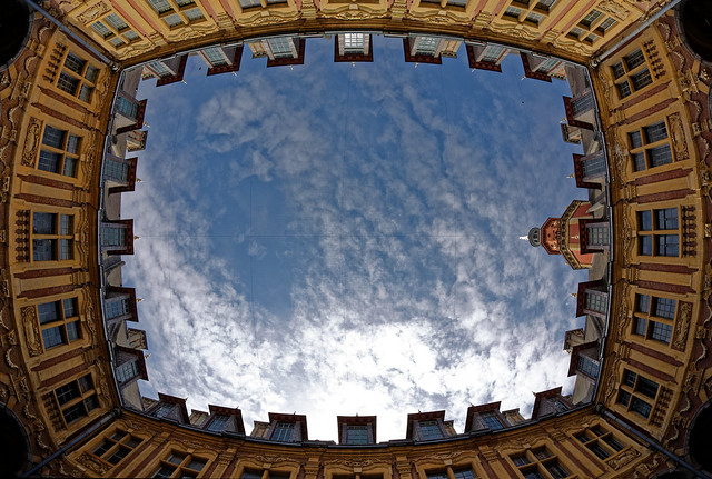 La Vieille Bourse - Fisheye