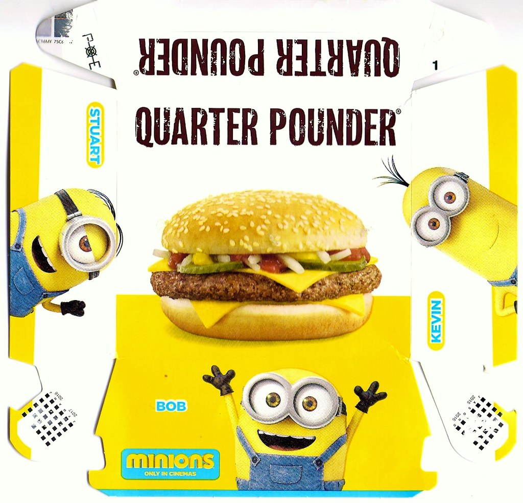 Mcdonalds Meal Box Mcdonald's Minion Happy Meal