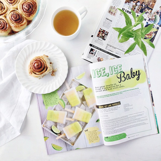 Received a copy of US mag #CurbsideCuisine featuring three of my recipes and then I spotted one of my IG posts in yesterday's @sundaystyle!  In other news last night's procrastibaking Cinnamon Rolls may or may not have made an appearance as breakfast... T