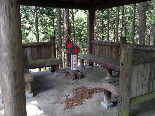 不破の滝 大滝林間歩道 展望台内部