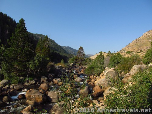 The river above the Sink, Sinks Canyon State Park, Wyoming