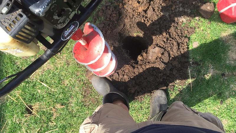 post hole digging fashionista.