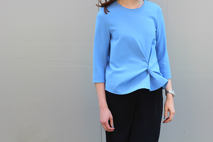 Cos Blue Knot Detail Top