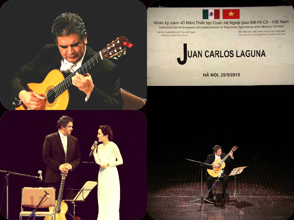 Concierto del guitarrista mexicano Juan Carlos Laguna, Hanói.