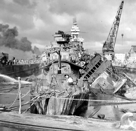USS Cassin Destroyer - Pearl Habor History