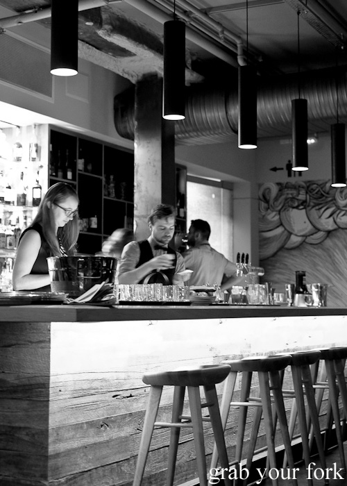 The bar at Firedoor by Lennox Hastie, Surry Hills