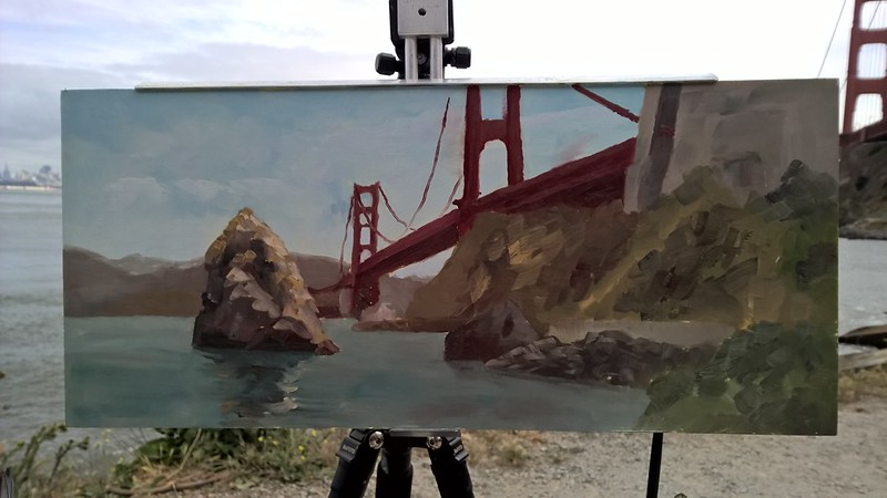 Painting from Richard Robinson's San Francisco Workshop