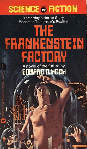 The Frankenstein Factory by Edward D. Hoch. Warner 1975. Cover artist Vincent Di Fate